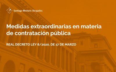 Medidas extraordinarias en materia de contratación pública