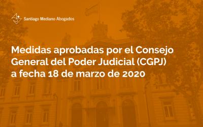 Medidas aprobadas por el Consejo General del Poder Judicial (CGPJ)