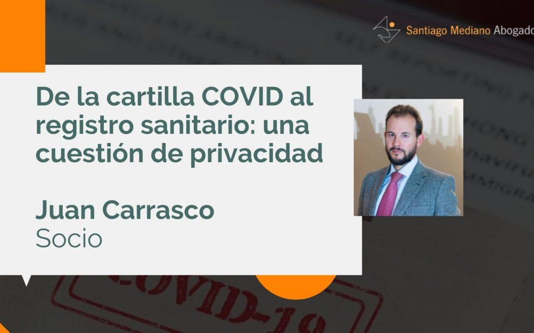 De la cartilla COVID al registro sanitario: una cuestión de privacidad